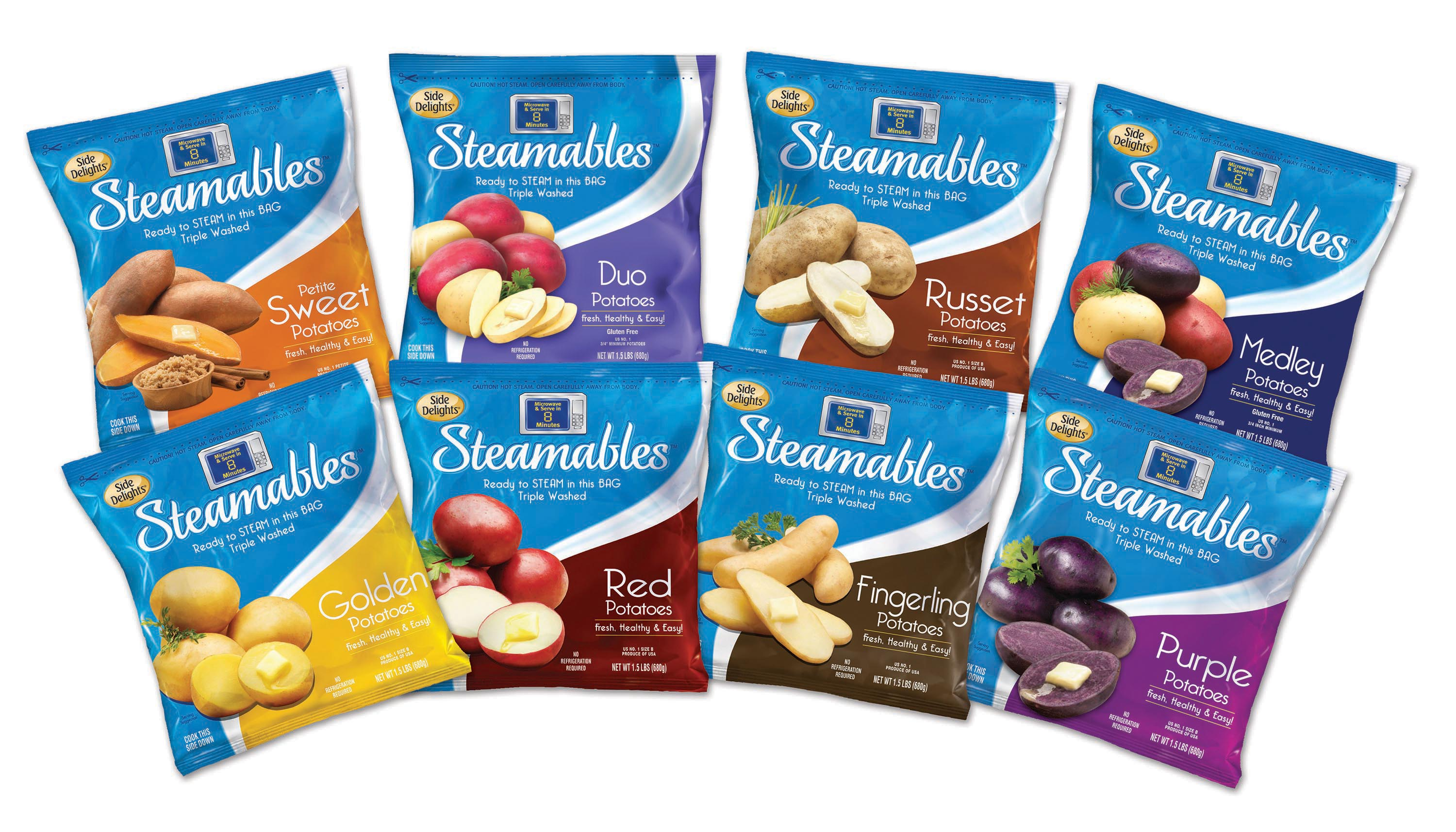 Steamables™ - Side Delights on microwave chicken, microwave grits, microwave pie, microwave baked potatoes, microwave red potatoes, yams vs sweet potatoes, microwave seasoned potatoes, microwave sweet potatoes, microwave scalloped potatoes, microwave boiled potatoes, microwave pot roast, microwave baby potatoes, microwave potato recipes, microwave cornbread, microwave lasagna, microwave baked potato plastic wrap, microwave hash brown potatoes, microwave peach cobbler, crazy potatoes, butter gold potatoes,